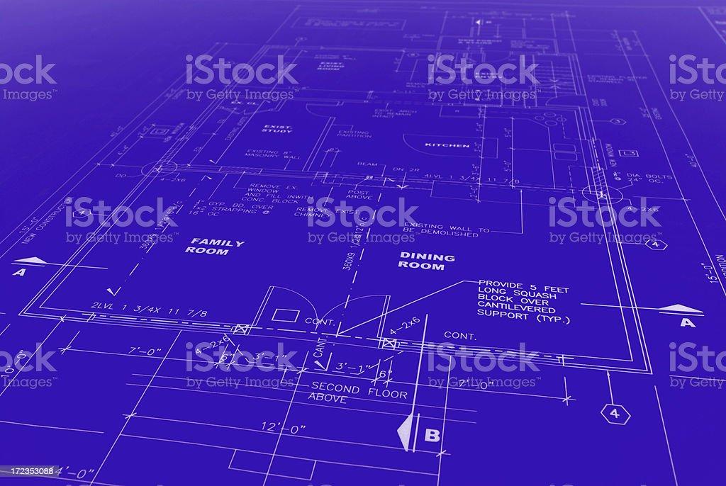 blueprint 118b royalty-free stock photo
