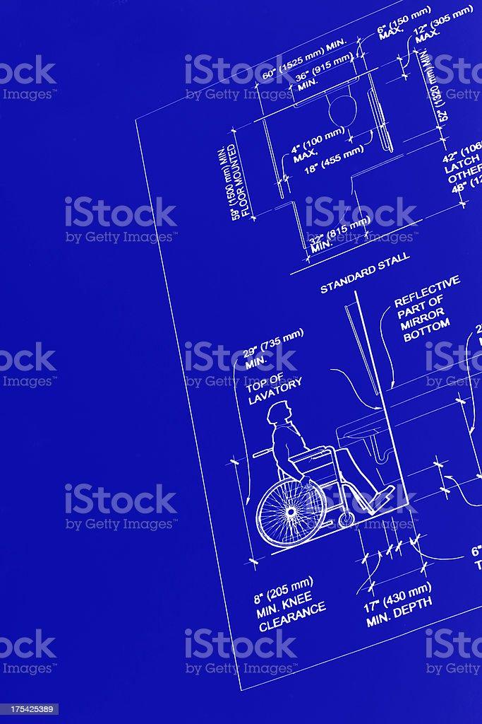 Blueprint Sechs behindertengerechte Toiletten-Design – Foto