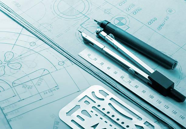technische zeichnung - produktdesigner stock-fotos und bilder