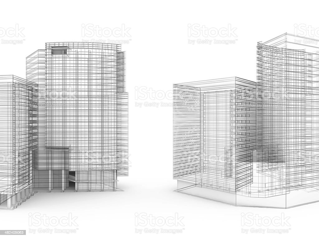 Blueprint City stock photo