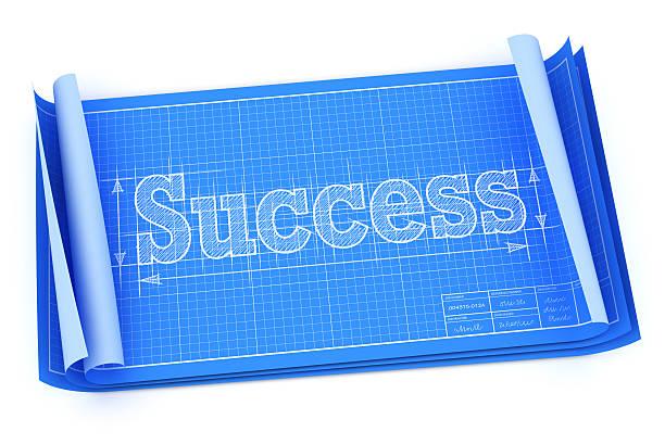 Technische Zeichnung Konzept-plan zum Erfolg – Foto