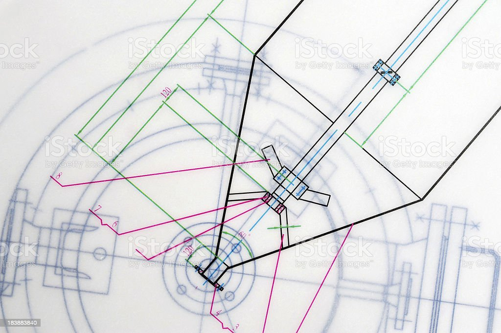Blueprint Drafting Outline royalty-free stock photo