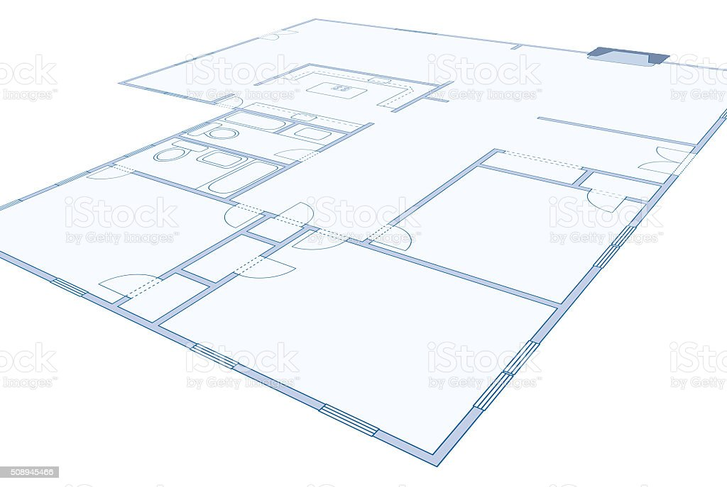 Blueprint drawing of a simple residential home stock photo 508945466 blueprint drawing of a simple residential home royalty free stock photo malvernweather Choice Image