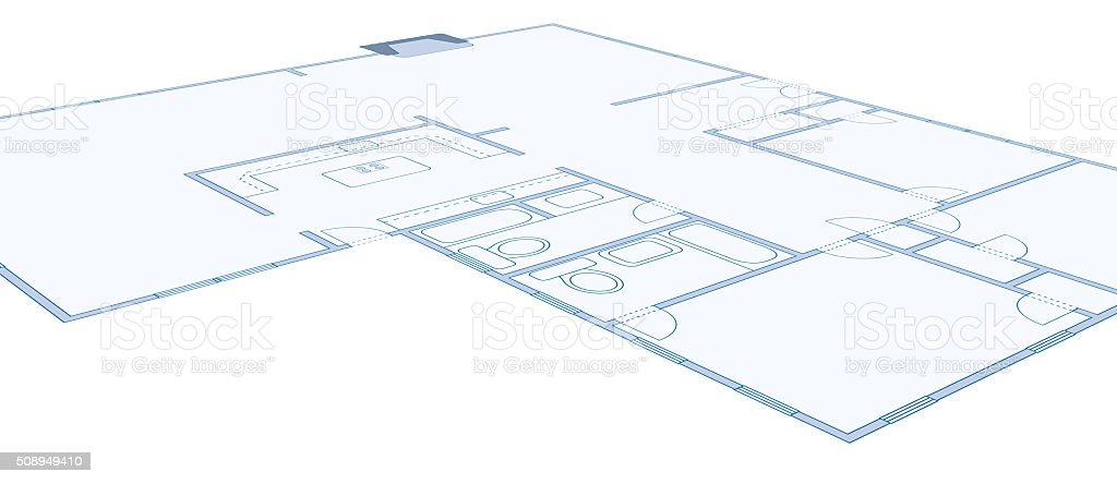 Blueprint drawing of a simple residential home stock photo istock blueprint drawing of a simple residential home royalty free stock photo malvernweather Gallery