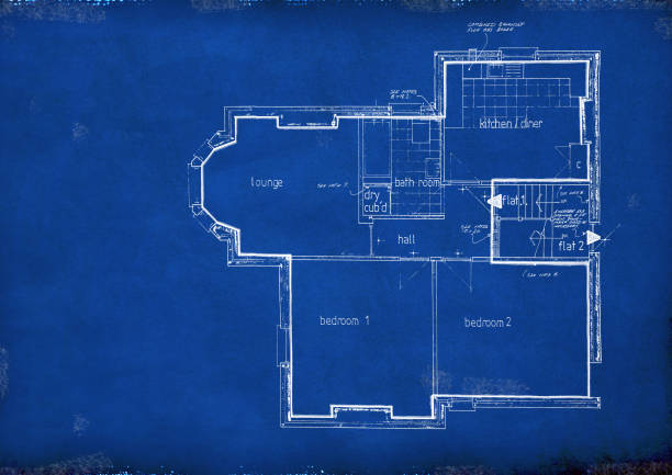 Blueprint - Floor Plan stock photo