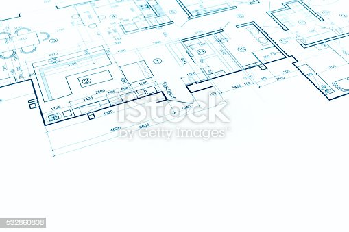 istock blueprint floor plan, technical drawing, construction background 532860808