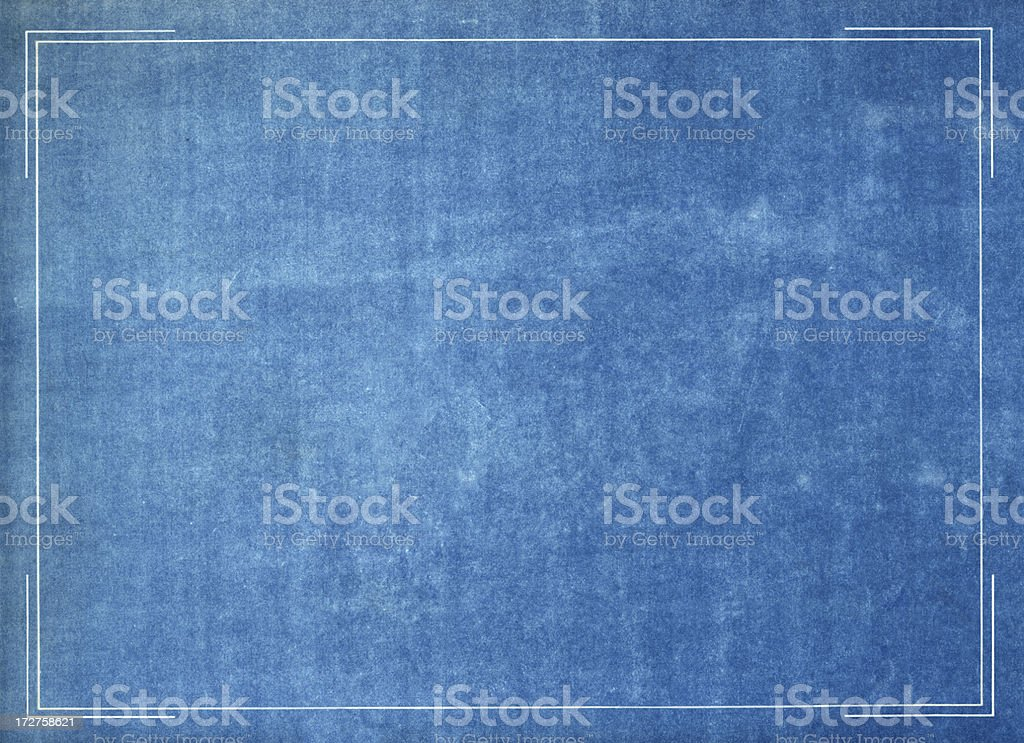 Blueprint frame royalty-free stock photo