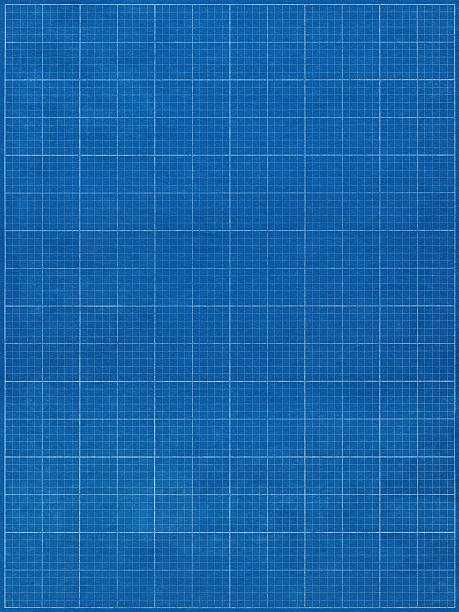 blueprint graph paper stock photo