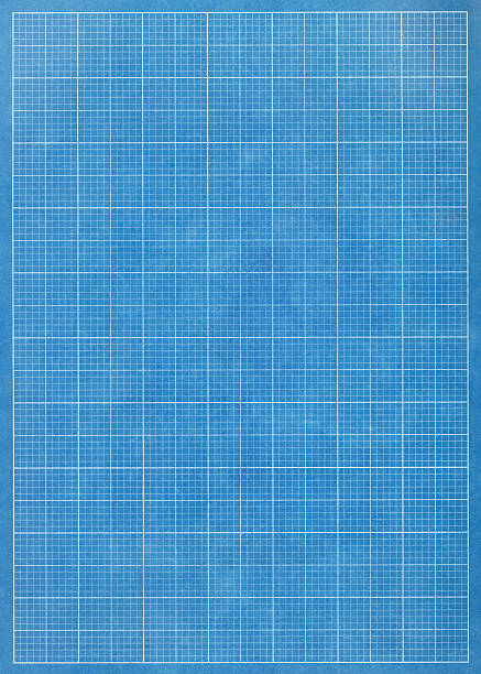 blueprint grid paper - grid pattern stock photos and pictures