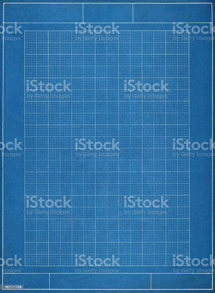 Blueprint grid paper bildbanksfoto