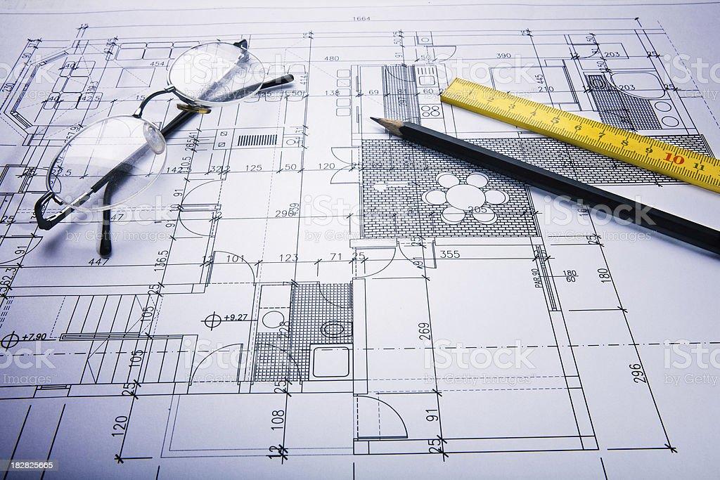 Blueprint of home floor royalty-free stock photo