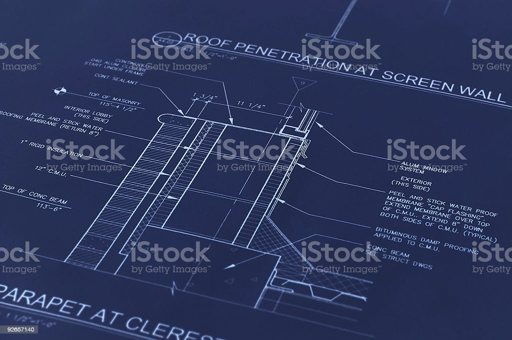 Blueprint Of Wall Detail royalty-free stock photo