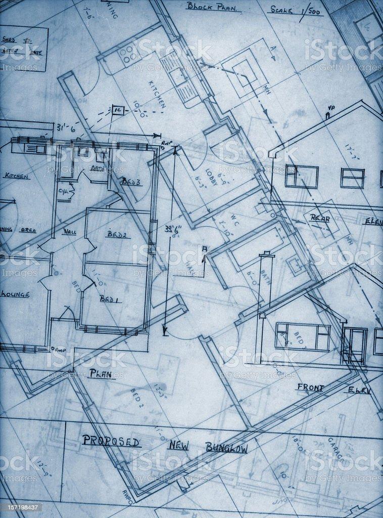 blueprint overlay royalty-free stock photo