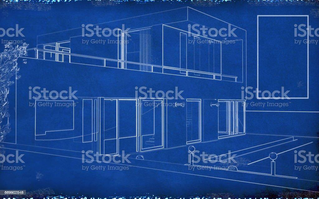 Blueprint Paper - Blank stock photo