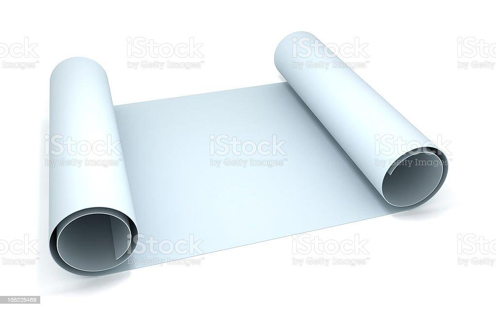 Blueprint paper roll stock photo