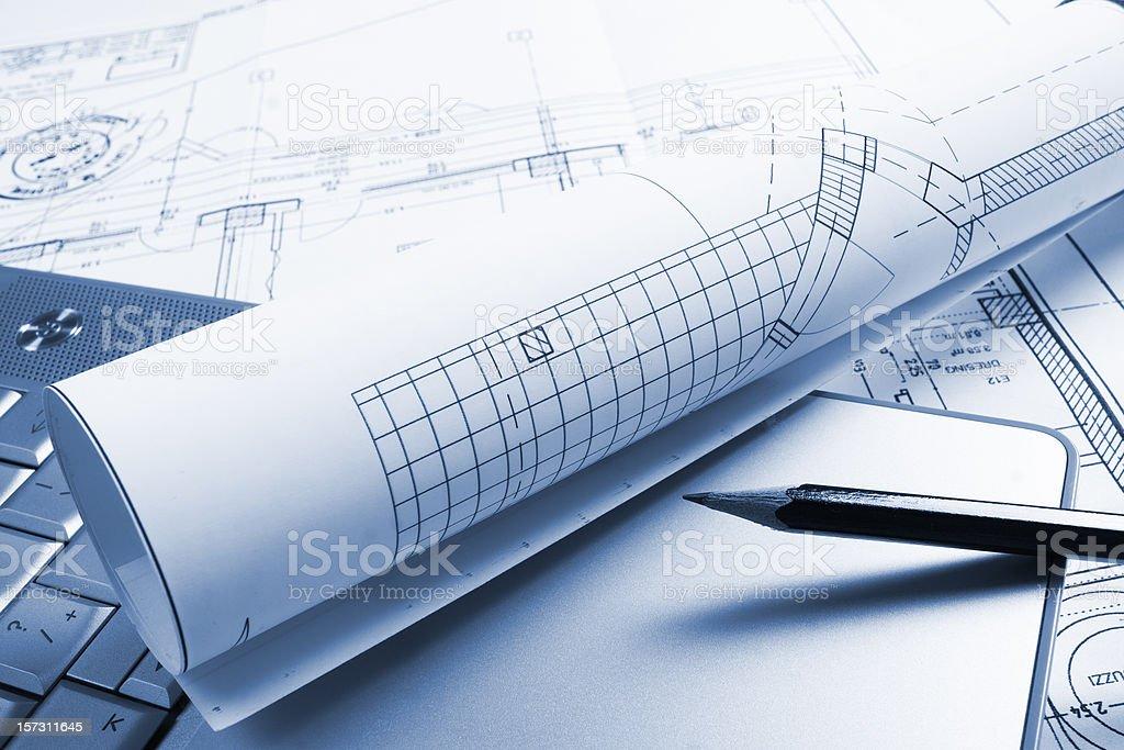 blueprint  Architecture Stock Photo