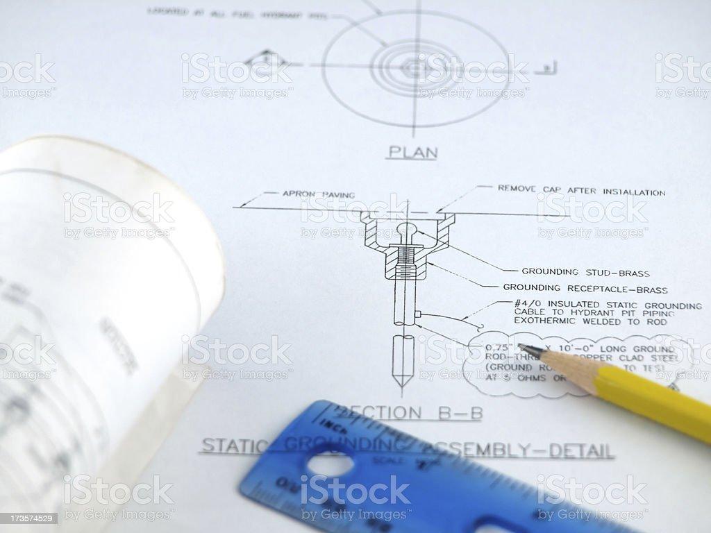 Blueprint royalty-free stock photo
