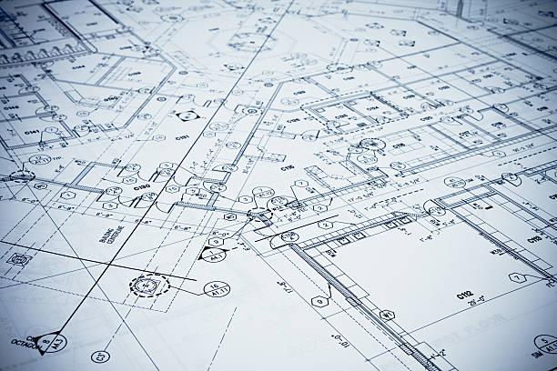 Blueprint - Toned Image. stock photo