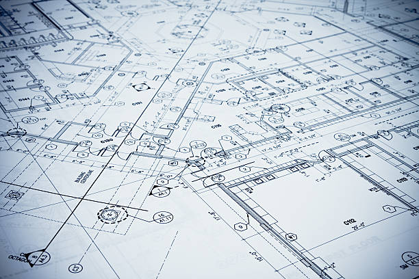 Blueprint - Toned Image. Blueprint. blueprint stock pictures, royalty-free photos & images