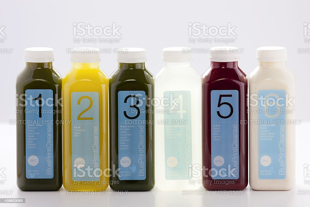 BluePrintCleanse Juice stock photo