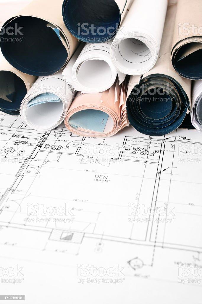 Blueprints -01 royalty-free stock photo