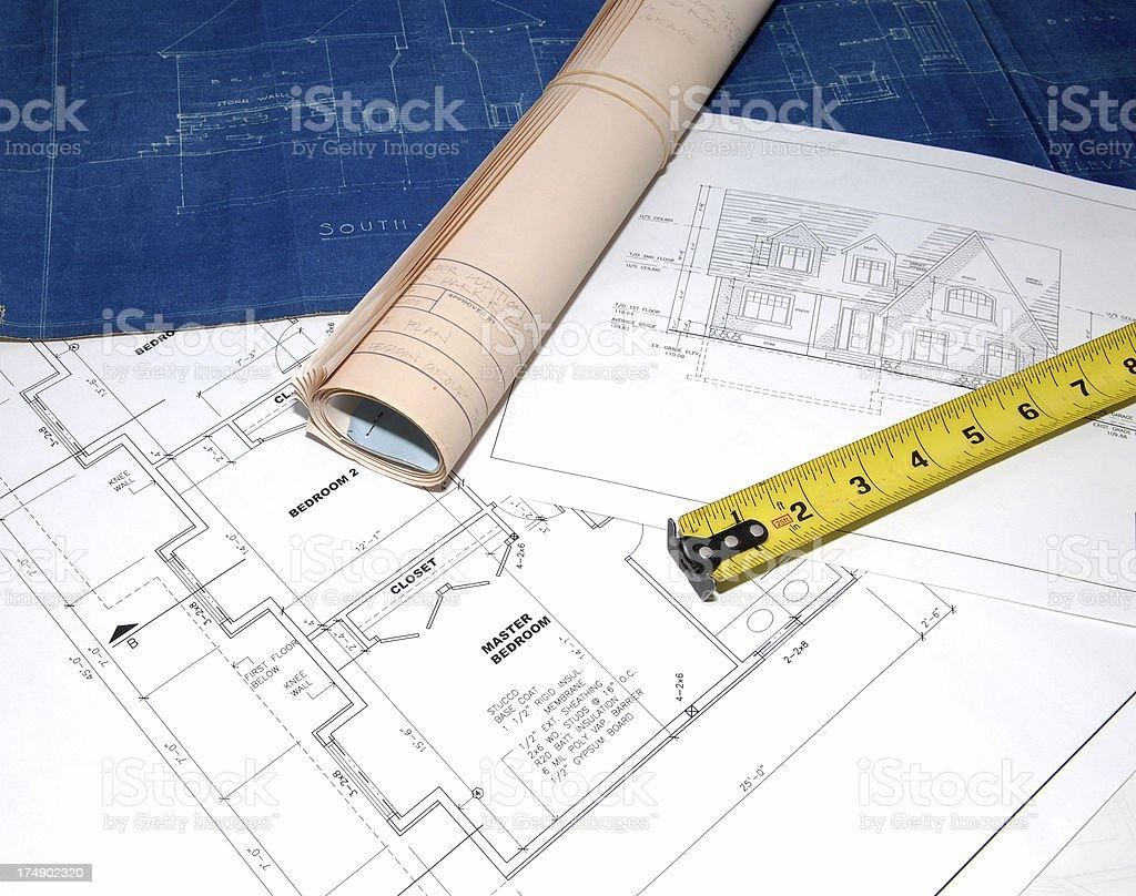 blueprints 14 royalty-free stock photo
