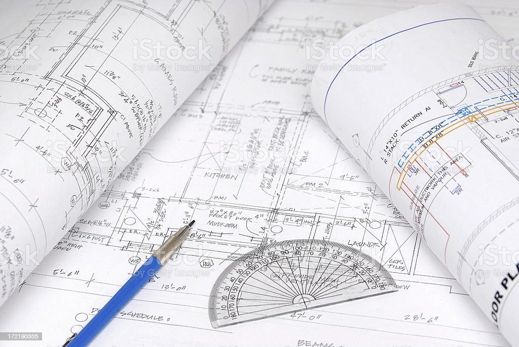 blueprints 91 royalty-free stock photo