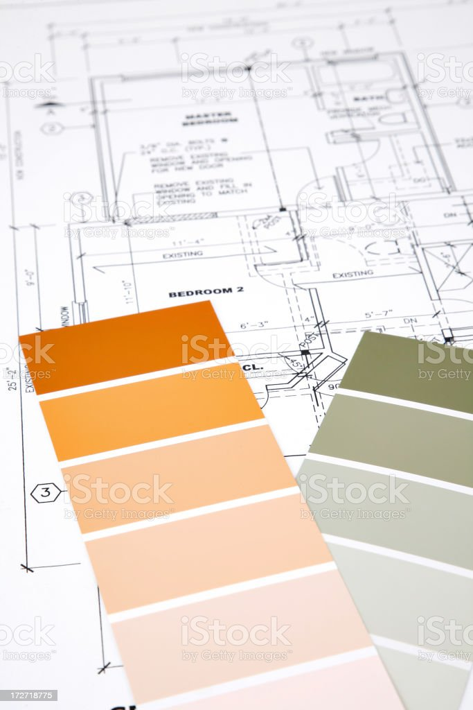 Blueprints and Colours royalty-free stock photo