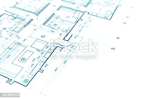 istock blueprints background with technical drawing of construction pla 532860916