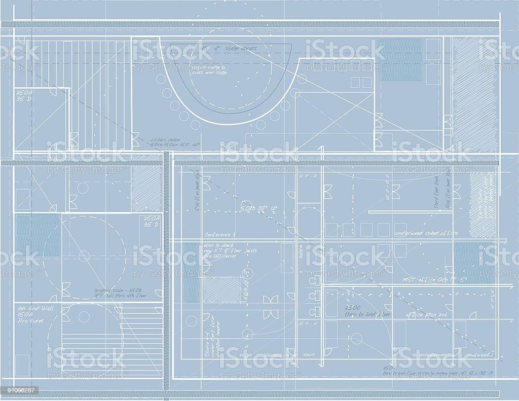Blueprints Design royalty-free stock photo