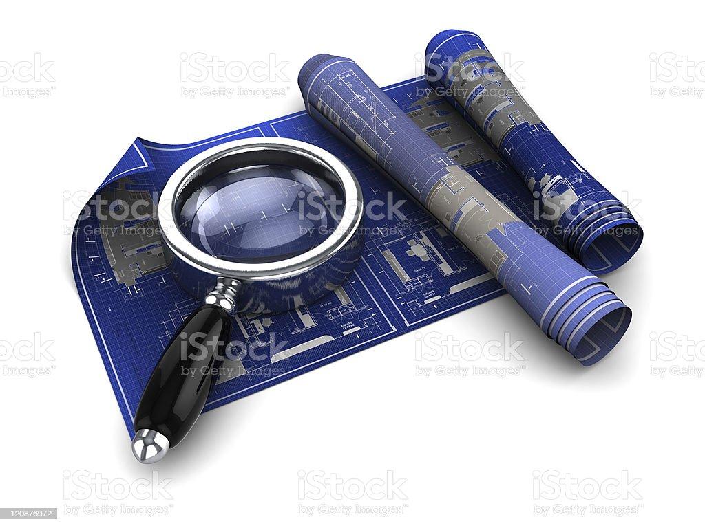 blueprints exploration royalty-free stock photo