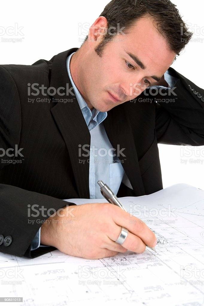 Blueprints Frustrations stock photo