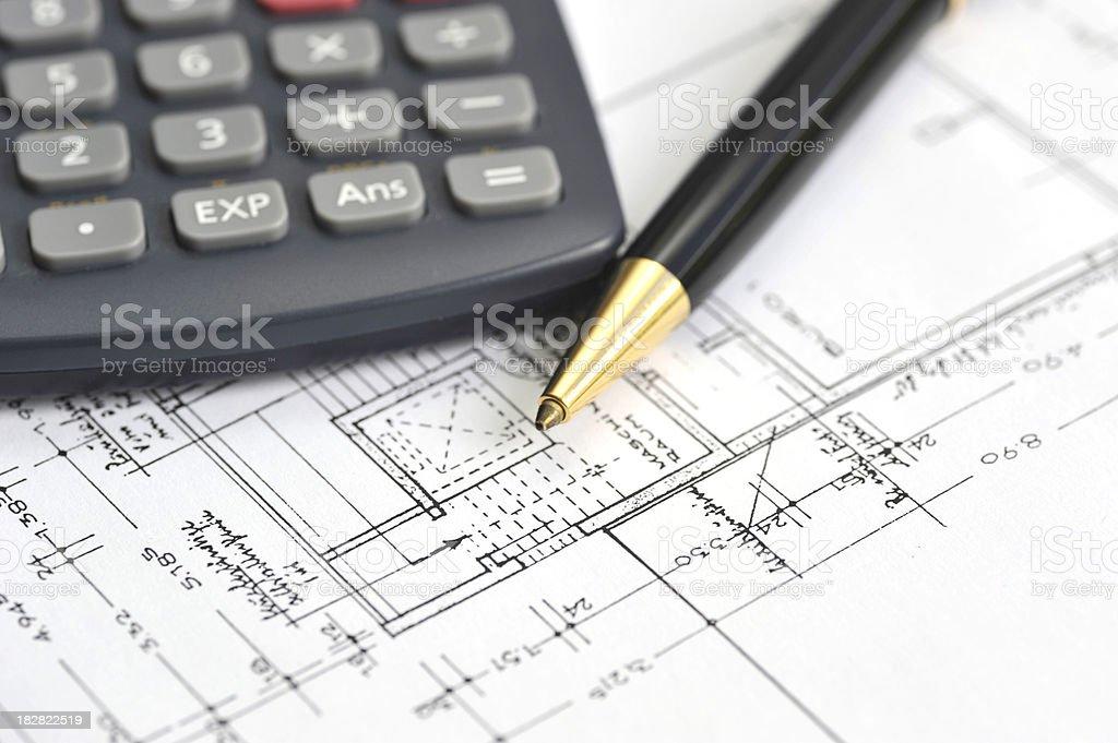 blueprints -  Grundriss royalty-free stock photo