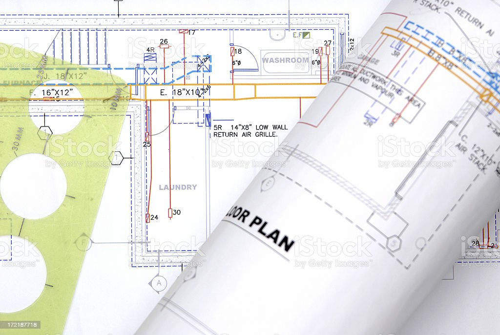 blueprints royalty-free stock photo