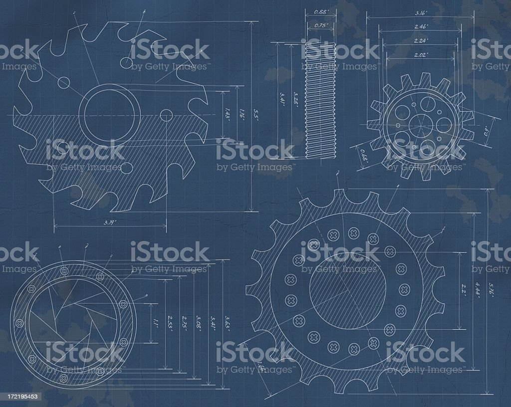 Blueprints (XXL) royalty-free stock photo