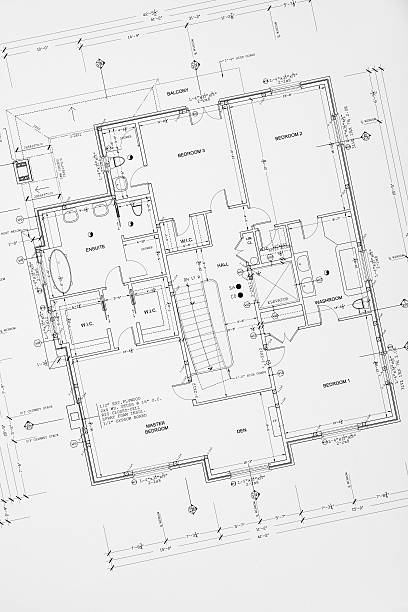 blueprints - foto de stock