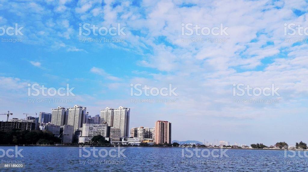 Bluer than blue stock photo