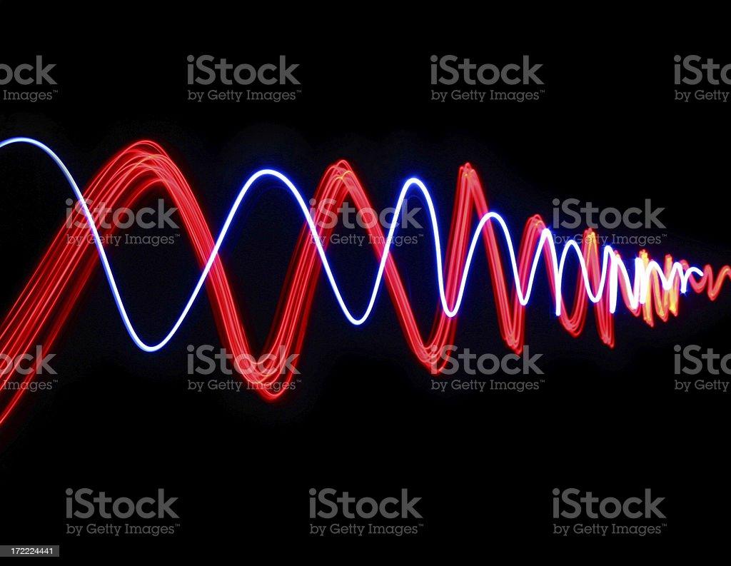 Blue-red alternating sine-ish waves royalty-free stock photo