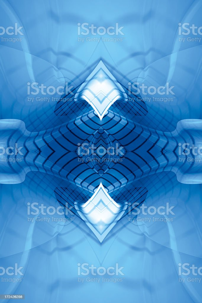 BlueReflectFractalTwo royalty-free stock photo