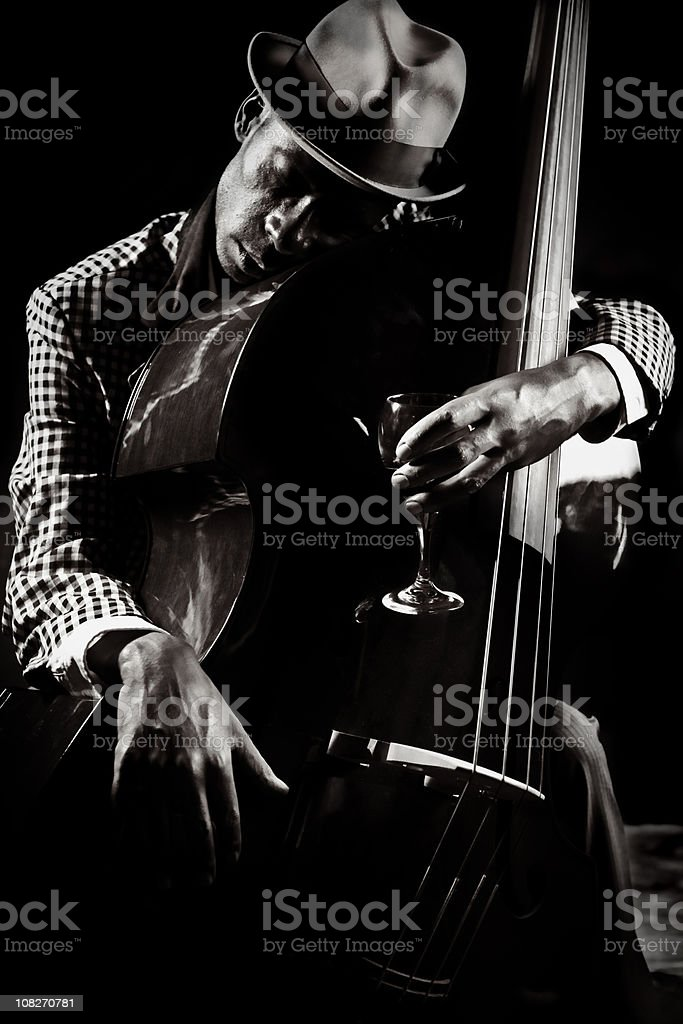 blues and jazz player stock photo