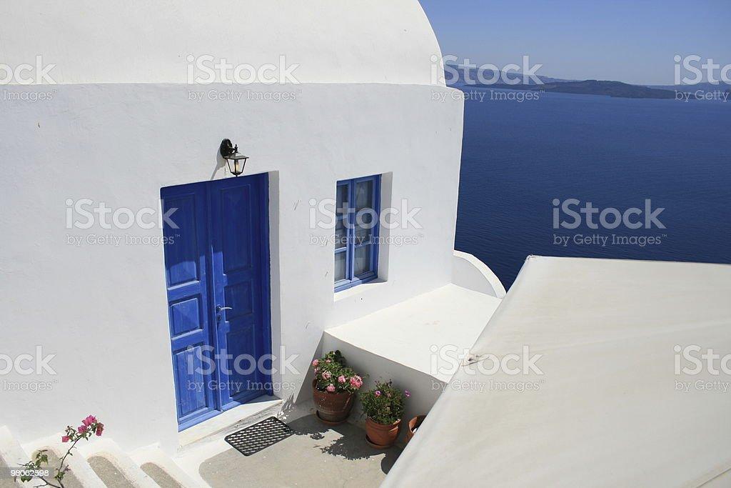 Blu s di Santorini foto stock royalty-free