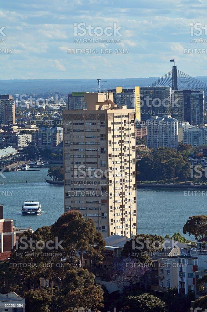 Blues Point Tower Sydney New South Wales Australia stock photo
