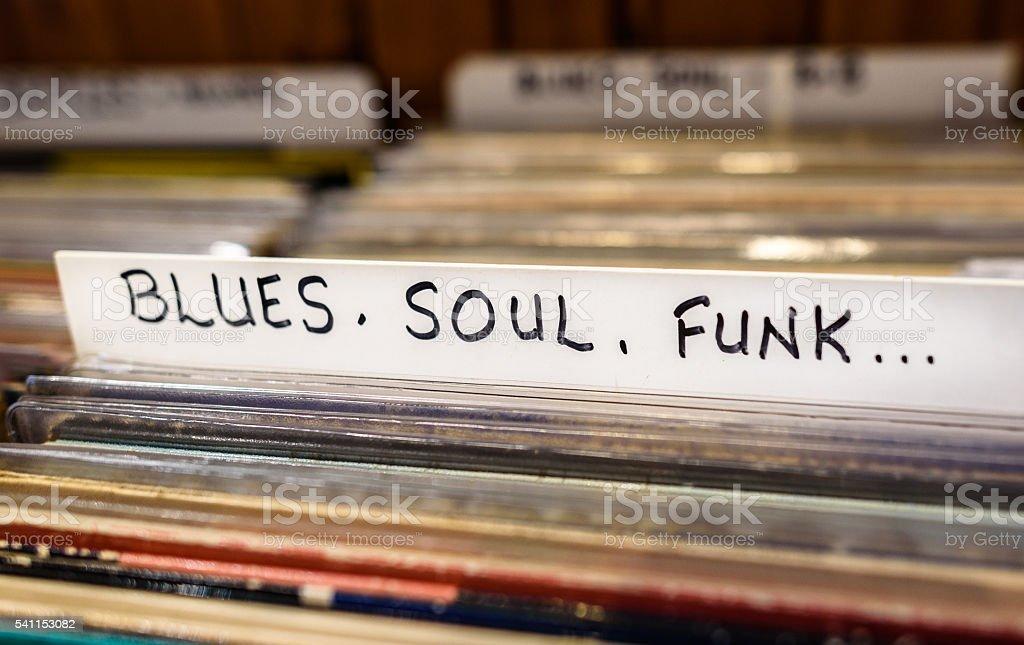 Blues, Soul, Funk Records stock photo