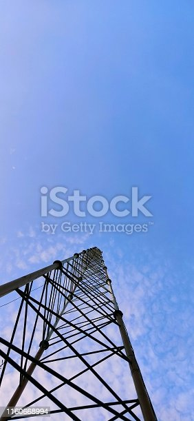A tower in blue sky awesome texture