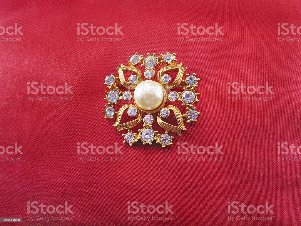 Blue-stone brooch royalty-free stock photo