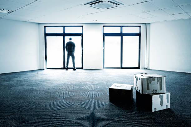 Blau gehaltene leeres Büro zeigen business-Fehler – Foto