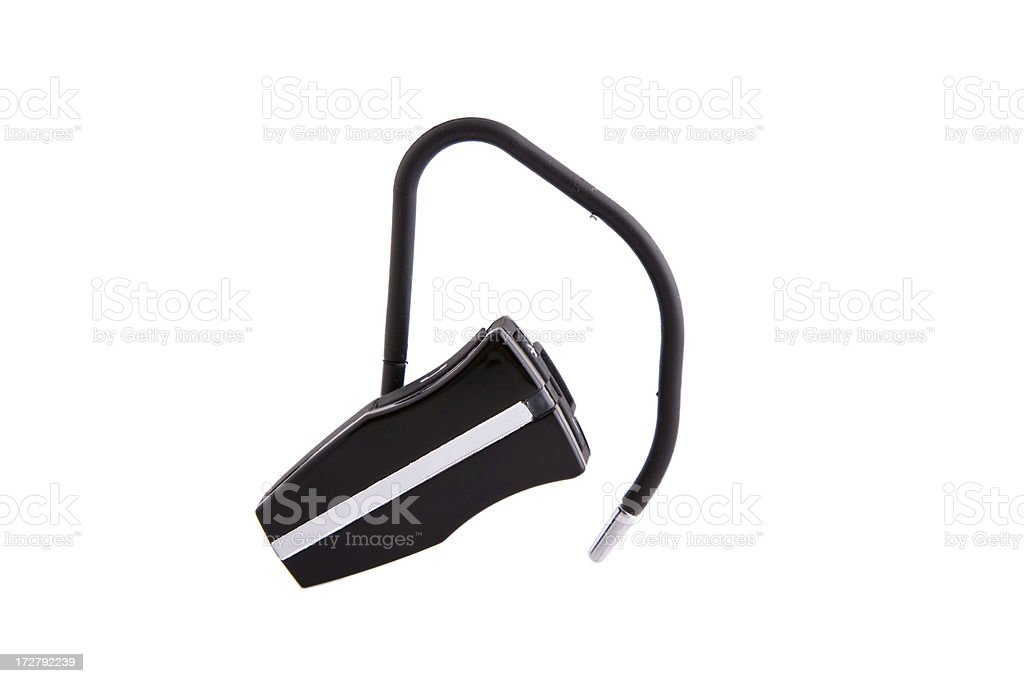 Bluetooth headset isolated on white royalty-free stock photo