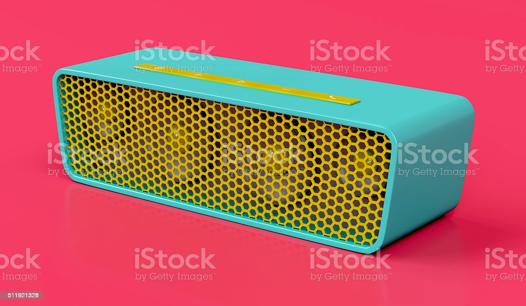 Bluetooth speaker stock photo