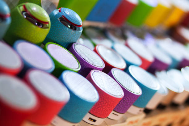 Bluetooth speakers stock photo