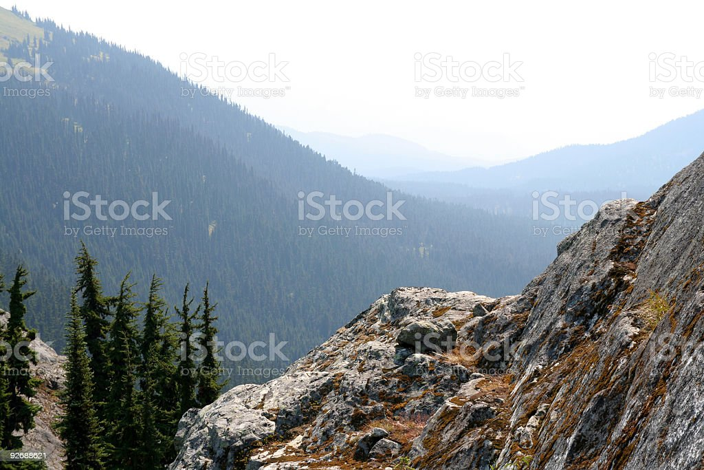 Bluff Above Callaghan Valley royalty-free stock photo
